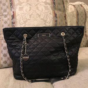 DKNY large leather shopper